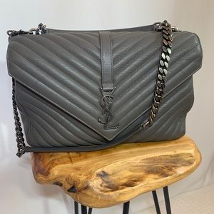 YSL Quilted Leather Large College Bag